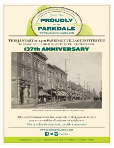 Parkdale Anniversary Posters 1 - Jan 2016