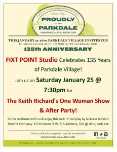 Parkdale Anniversary Posters - Fixt Point - Jan 2014