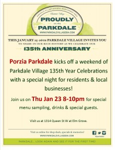 Parkdale Anniversary Posters - Parkdale Porzia - Jan 2014