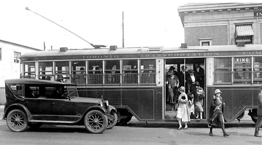 Roncesvalles and Queen Streetcar 1925