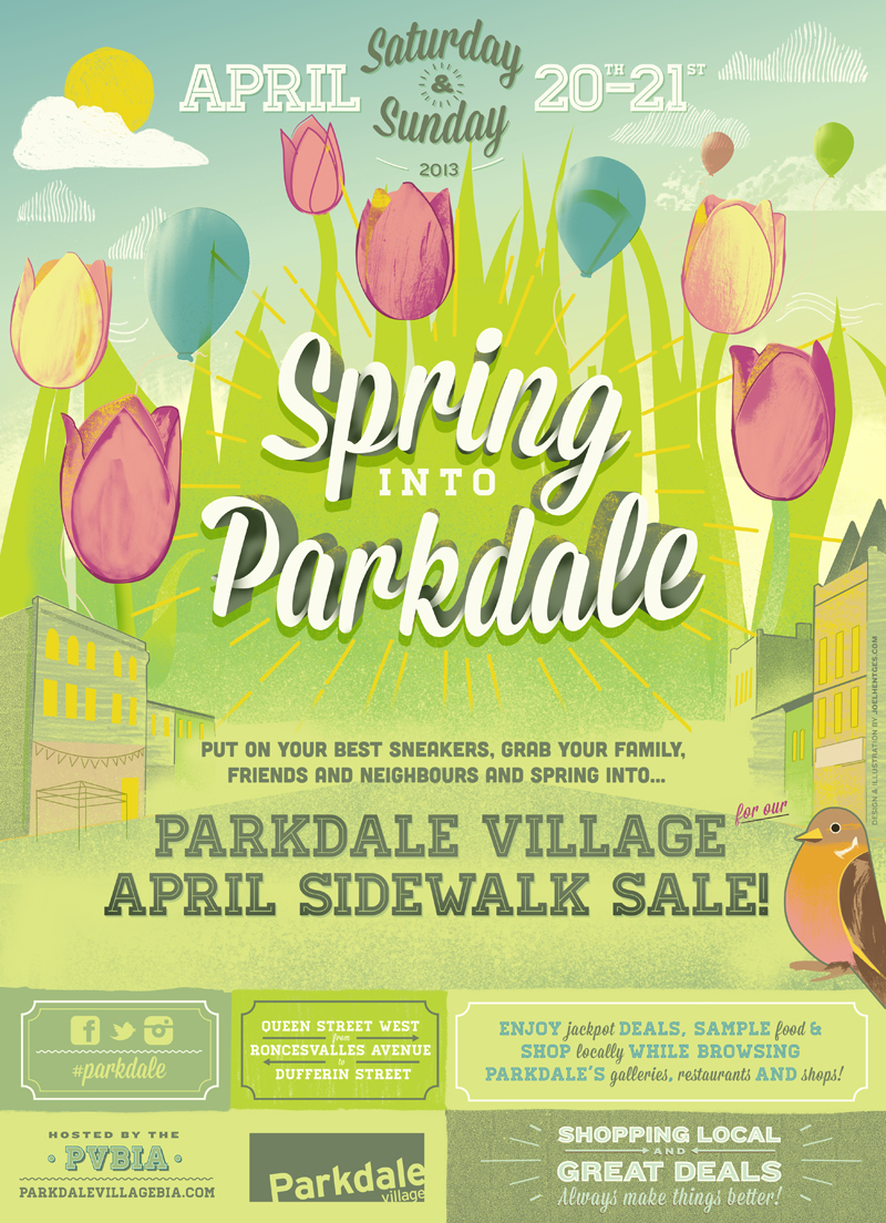 Spring into Parkdale 2013 - Small Poster